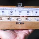 7 Pcs Amethyst Crystal Geometric Set in Wooden Book