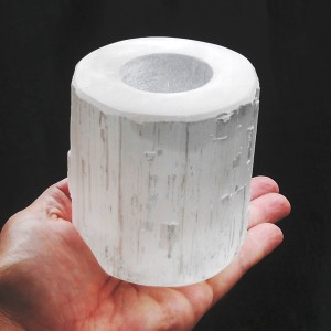 Selenite Towel Tealight Base