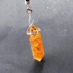 Citrine Quartz Crystal Point Healing Gemstone Pendant / Pendulum